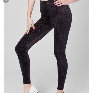 American apparel black stardust velvet legging, XS